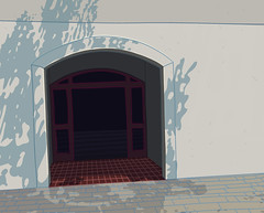 a cold sun (polina izvekova) Tags: building illustration illustrator adobeillustrator vector vectorart drawing entrance cold sun wacom