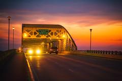 Trying to Make Some Sense of It All (Thomas Hawk) Tags: bridge usa america sunrise louisiana unitedstates fav50 unitedstatesofamerica caddo shreveport fav10 fav25 fav100 caddoparish longallenbridge