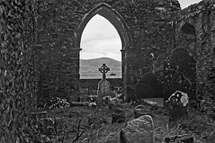 Killone Abbey (Shot Yield Photography) Tags: ireland irish white black building abandoned film monochrome abbey architecture dark photography photo scary ruins foto place shot image decay picture atmosphere eerie irland eire historic haunted creepy spooky mysterious yield exploration derelict remains ilford nikonf3 mystic friary dereliction premises 2016 killoneabbey shotyieldphotography