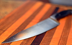 My Favourite (Jo-Cooling To 80's :)) Tags: metal horizontal perfect flat steel board knife cook sharp chef cutting favourite tool culinary laying weighted inthekitchen sundaytheme wk21 theflickrlounge