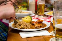 bavarian dinner (phlickrron) Tags: food dinner bavaria sauerkraut meat regensburg wirtshaus portk schweiners