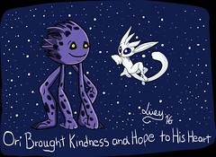 Friendship (kittycatlucy) Tags: friends friendship blue game oriandtheblindforest ori gumo