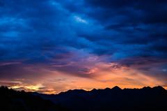 S U N S E T (silvishehi) Tags: sunset sun sky clouds sunlight lights mountains horizon hrvatska croazia croatia tramonto montagne sole travelling view landscape
