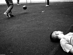 """from the series """"Yard football"""" (photozalman) Tags: street shadow people blackandwhite bw white man black art monochrome lines contrast blackwhite shot russia geometry moscow creative streetphotography documentary lifestyle monotone structure best human elements streetphoto moment minimalism palha sity bnw avant bresson bwphotography symbolism bwphoto avantgarde monoart"""
