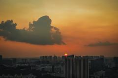 A red sun (elenaleong) Tags: skyscape singapore flats publichousing hdbflats redsun highriseflats elenaleong