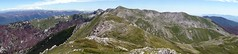 Panorama of Monte del Passeggio and the ridge to Monte Fragara (markhorrell) Tags: walking lazio apennines montiernici