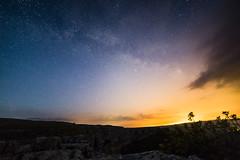 Night Sky at Malham Cove (Anna_L.) Tags: light sky night way cove yorkshire galaxy pollution milky malham