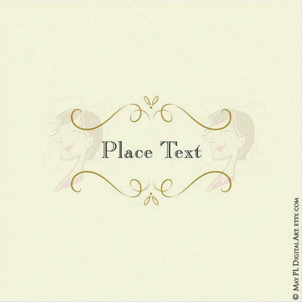 Pretty Elegant Swirl Frame Add Your Own Text In Elegance: Gl Frames Wedding Invitation At Websimilar.org
