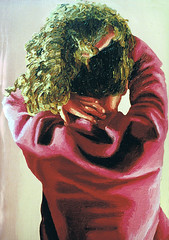 realistic painting woman from back female portrait  women hair realistic artworks paintings raphael perez painter artist (iloveart106) Tags: from portrait woman female painting hair back women artist paintings painter raphael  artworks perez realistic