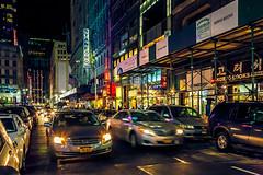 K-Town (Arutemu) Tags: street nyc newyorkcity urban usa ny newyork night america asian us asia neon nightscape nightshot unitedstates manhattan scenic scene korea korean nighttime american   koreatown nuevayork   24105      eos5d