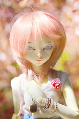 Klaud (Agathe') Tags: old pink sun macro garden hair outside doll wig bjd fairyland msd ws poupe mnf klaud rheia