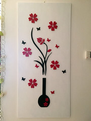 Decorazione floreale da parete - Wall decoration (marcotas) Tags: decorazione floreale fiori legno compensato primavera decoration wood flower flowers plywood spring colors marcotas