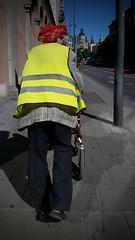 summer santa (Alejandro Ruete) Tags: street yellow stockholm vagabond