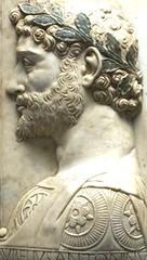 Aurelius Antoninus Pius Divus, Roman Emperor from 138 to 161 C.E., adopted son of Hadrian. (mike catalonian) Tags: sculpture relief hadrian emperor ancientrome antoninuspius adoptedson iicenturyce