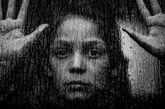 Melancholia (PaxaMik) Tags: portrait window rain sadness hands noir sad noiretblanc pluie triste raindrops mains fentre tristesse regard gouttes melancholia mlancolie nb portraitnoiretblanc rainingdays