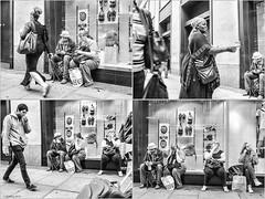 A slice of life in two minutes (Geza (aka Wilsing)) Tags: candid streetscene oxfordstreet em1 bwconversion mzuiko17mm18