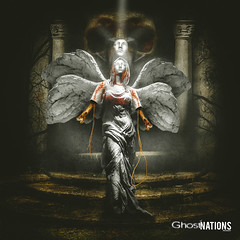The Comsumption Of Sathariel (Ghost Of Nations Photography And Digital Art) Tags: art angel skull scary wings gloomy artistic gothic digitalart spooky bones disturbing neogothic liminal disquiet newgothic sathariel ghostofnations ghostofnationsphotography