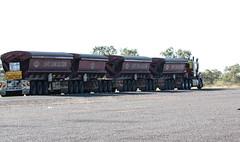 Road Train, outback Queensland (Arthur Chapman) Tags: australia queensland outback trucks roadtrain cloncurry landsboroughhighway geo:country=australia geocode:method=gps geocode:accuracy=100meters