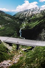 Allez Michi! (NIOphoto.) Tags: road mountain mountains alps landscape schweiz switzerland nikon scenery cyclist swiss pass roadtrip tokina berge alpen alp michi furka furkapass grimselpass d5200