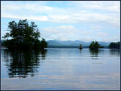 One of those mornings... (edenseekr) Tags: calm morning lake lakegeorgeny adirondackmountains islands reflections