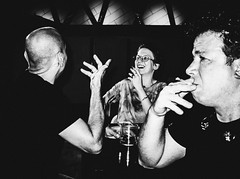i wonder (Ran Elmaliach) Tags: people blackandwhite white black monochrome lines dark photography israel photo blackwhite background text side border surreal gr ricoh ricohgr strret ranelmaliach