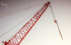 Sunset Craning (Chill Mimi) Tags: sunset construction crane dusk engineering australia architectural machinery newsouthwales kingscliff