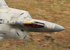 Office shot of a raptor (Dafydd RJ Phillips) Tags: lockheed martin aviation fighter jet military united states usaf lakenheath low level wales air force base afb florida tyndsll f22 raptor