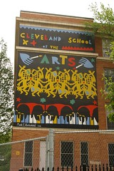 Cleveland School of the Arts mural by Mark Howard (Christopher Busta-Peck) Tags: ohio history cleveland historic threatened cuyahogacounty