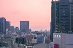 Tokyo - View from our hotel room at sunrise (Red-Dream) Tags:  tokyo tokyostreet people    superfave ciudad luz natural luznatural downtown urbana streetpix strase straat calle citylife   carretera urbanlife urban tkyto japan life  japonese landscape   country outdoor road surreal      potd:country=fr