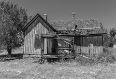 The Back Porch_BW (Kool Cats Photography over 7 Million Views) Tags: abandoned building ef24105mmf4lisusm canoneos6d blackandwhite monochrome house utah thompsonsprings old decaying neglected fallingapart