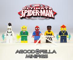 Ultimate Spider-Man [GROUP] [MOD] (agoodfella minifigs) Tags: nova mod lego spiderman peterparker superheroes marvel marvelcomics whitetiger powerman minifigure ironfist minifigures marvelheroes legosuperheroes legomarvel legomarvelsuperheroes legoavengers