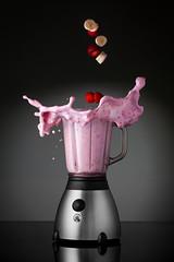 Blitz (JBStenger) Tags: pink studio milk strawberry banana blender milkshake smoothie blitz