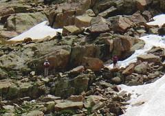 Close-up View (knutsonrick) Tags: climbers hikers sunlightspires windompeak durango colorado chicagobasin mountain sanjuanmountains rocks ridge climb hail storm hailstorm team retreat scree screefield