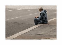 Urban life (hlne chantemerle) Tags: street blue people paris sol grey gris beige bleu rue trottoir passant chausse marquage