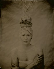 Silver Girl (angiebrockey) Tags: silverandglass silver glass girl conceptual concept wetplatecollodion wet plate collodion headpiece tintype ambrotype hands angiepemberbrockey angie pember brockey