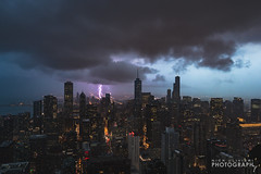 (7.13.16)-360_Rainbow_Storm-WEB-1 (ChiPhotoGuy) Tags: chicago storm weather skyline lightning rainbow cityscape epic clouds cloudporn 360chicago johnhancock hancock observationdeck rooftop stormy wx skyporn
