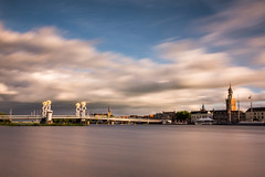 Stadsbrug Kampen (Peter Gol) Tags: city longexposure bridge holland water dutch clouds river landscape cityscape thenetherlands brug kampen overijssel landschap waterscape rivier ndfilter dutchclouds neutraldensityfilter 1585 nd110 deijssel canoneos60d efs1585 canoneos60d1585