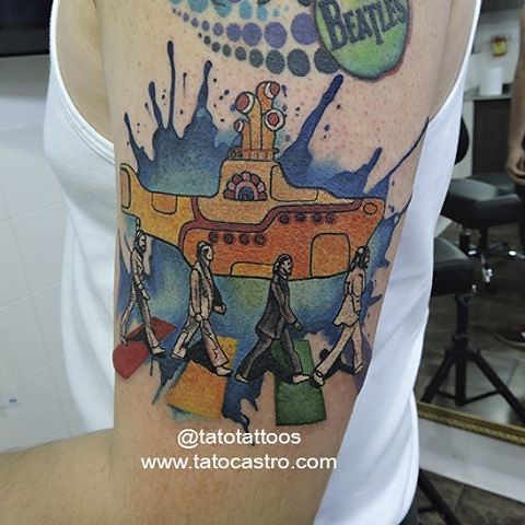 Tato castro tattoos 39 s most recent flickr photos picssr for Beatles tattoo abbey road