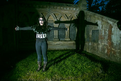 Creepy CrowWoman Cross Shadow - IMG_5343 (kpttnuts) Tags: cemetry creepy nightshoot creep graveyardshoot flickrsfxmakeup dvdphotos087
