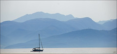 Layers (Hetty S. (catching up)) Tags: layers sea mountains boat corfu greece water vacation holidays trip boattrip canon eos lagen zee bergen landscape nature view ionian islands griekenland vakantie boottocht panorama