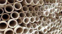 Pipes (Let Ideas Compete) Tags: hardwarestore circles pipes tube tubes pipe stack plastic constructionmaterial