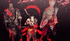 Samurais and Petals (eleanor.dethly) Tags: black cherry background blossoms petal sakura warriors samurai edo meiji samurais