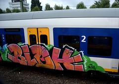 traingraffiti (wojofoto) Tags: traingraffiti treingraffiti trein train bleh graffiti amsterdam nederland netherland holland wojofoto wolfgangjosten
