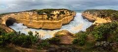 Thunder Cave (Jos Buurmans) Tags: panorama cliff seascape nature landscape australia victoria coastline cave rough greatoceanroad lochardgorge princetown thundercave portcampbellnationalpark coastallandscape