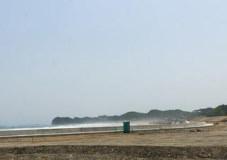 Contaminated beach after the daiichi nuclear power plant irradiation, Fukushima prefecture, Tairatoyoma beach, Japan