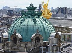2016.06.25.09 PARIS -  Vue depuis la terrasse des Galeries Lafayette (alainmichot93 (Bonjour  tous)) Tags: 2016 france ledefrance seine paris architecture dme statue opra opragarnier toit