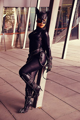 Cat - 5 (Smith-Bob) Tags: comic comics comicbooks dc marvel manga anime hero heroes villain villains heroesvillains superhero superheroes good bad evil cosplay costume film tv popculture armageddon comiccon ozcomiccon supanova animaga amc amce australianmoviecomicexpo amcexpo people street pax paxaus woman women catwoman catsuit cat cats black blackcat leather latex lycra mask boots pose model gloves lover foe femmefatale beautiful attractive beautifulwoman whip batman spiderman