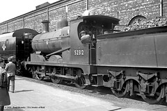 13/06/1962 - Crewe Works, Cheshire. (53A Models) Tags: britishrailways ly class27 060 52312 steam crewe works cheshire train railway locomotive railroad lms