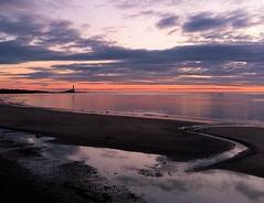 Sunrise Over Whitley Bay Beach (Gilli8888) Tags: whitleybay sunrise lighthouse stmaryslighthouse tyneandwear dawn clouds sky light batesisland coast eastcoast northsea coastline seascape silhouette beach