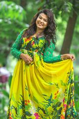 Smile !!! (zayembin.tajdid) Tags: portrait girl model green dress yellow combination beautiful beauty pose natural look smile happy fashion fashionable dhaka bangladesh bangladeshi 2016